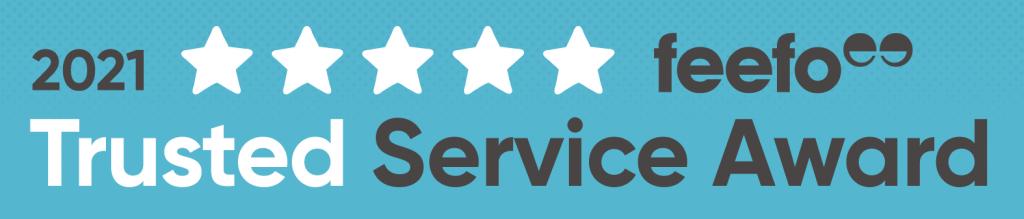 Feefo trusted service award logo