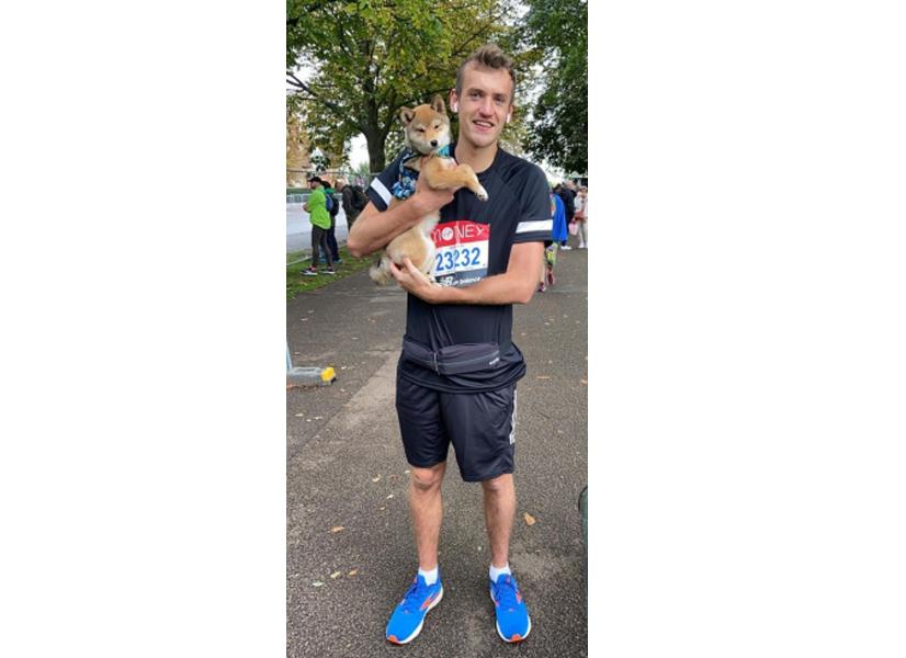 Andy at the London Marathon